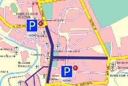 Схема перекрытия города Суздаля и расположение парковок на «День Огурца» 15 июля 2017 г.