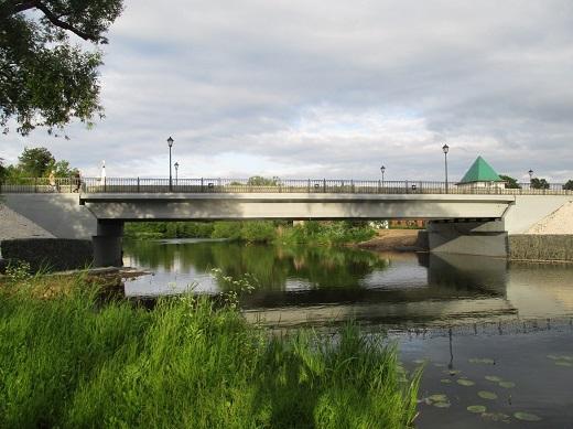 Открытие движения по мосту через реку Каменка на ул.Ленина